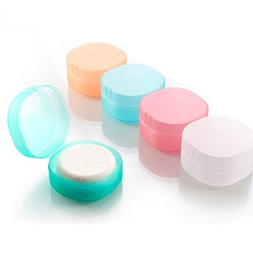 MZJJ Portable Soap Case Holder Dish Plate Round Sealing Box Container with Lid for Travel Hiking Camping Kitchen Home Bathroom Shower