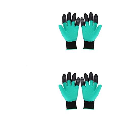 2pairs tuinhandschoenen met klauwen plastic tuin rubberen handschoenen tuinieren graven planting duurzame waterdichte…