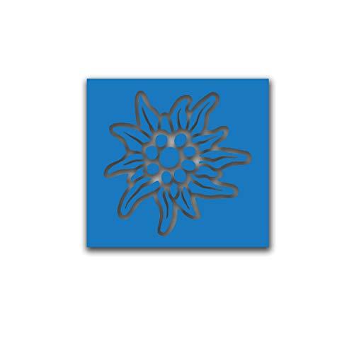 Lackierschablonen Edelweiss Souvenir Alpenregion Gebirgsjäger 30x30cm A5151
