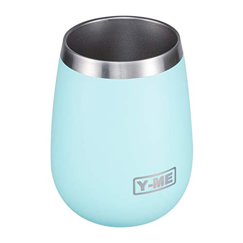 yeti wine tumbler with lids Y-ME Stainless Steel Wine Tumbler Insulated,10oz Wine Tumbler with Lid Double Wall,Wine Cup with Lid for Coffee,Cocktails,Drinks