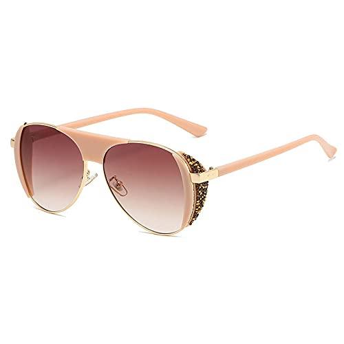 NBJSL Moda para hombres y mujeres Gafas de sol de metal Gafas de sol anti-ultravioleta Uv400 Exquisito empaque de regalo