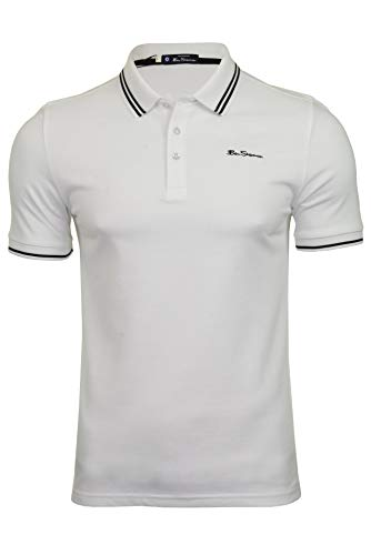 Ben Sherman Herren Poloshirt Kurzarm (Schneewittchen) XL