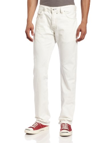 Diesel Herren Safado Regular Slim Straight Jeans 0811G - Weiß - 36W / 32L