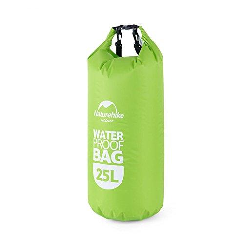 TRRE Voyage en plein air sacs étanches sac dérivantes snorkeling plage natation sac, 25L ( Couleur : Vert )