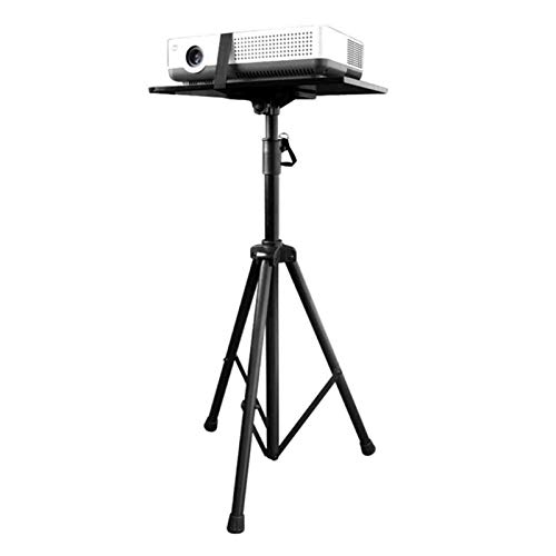 Lamyanran Adjustable Projector Mount Stand Projector Bracket,with Tray Universal Support Placement Rack Floor Home Office Teaching Projector 90-180CM Triangle Shelf Telescopic Table