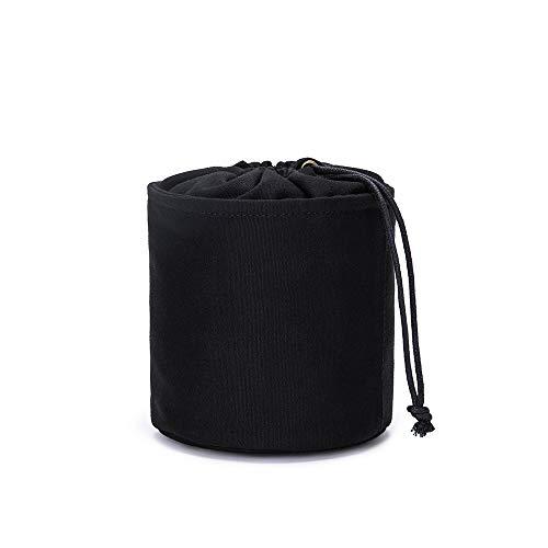 Großer Handtaschen-Organizer für Damen, Leinen, rund, Handtaschen-Organizer, Aufbewahrung, Handtaschen-Organizer, runde Kosmetiktasche, Eimer, Make-up-Tasche (schwarz (klein)