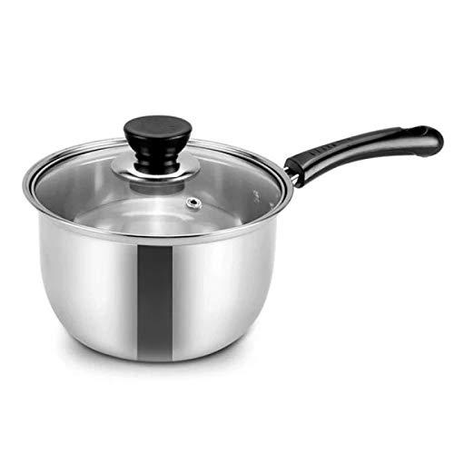 Pote de leche de acero inoxidable, pequeño vapor, mini olla de sopa, olla de fideos de leche, complemento de alimentos para bebés 16 cm / 18cm / 20cm 18CM