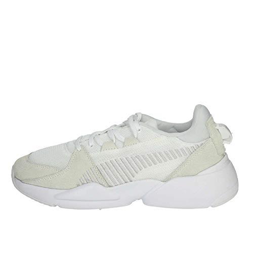 Puma Unisex Zeta Suede Sneaker, Weiß White-Glacier Gray, 44 EU