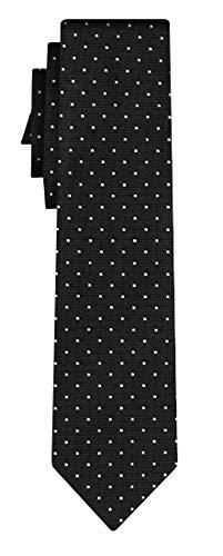 BOSS Seidenkrawatte dots pattern black