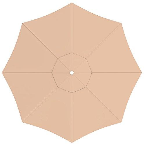 paramondo Sonnenschirm Bespannung Ink. Air Vent für interpara Sonnenschirm (3,5m / rund), Creme
