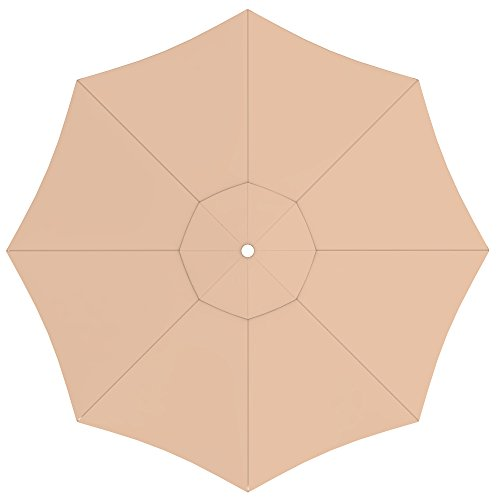paramondo Tela de Recambio para Sombrilla Parasol INTERPARA, Incl. Air Vent (3,5m / Redonda), Crema