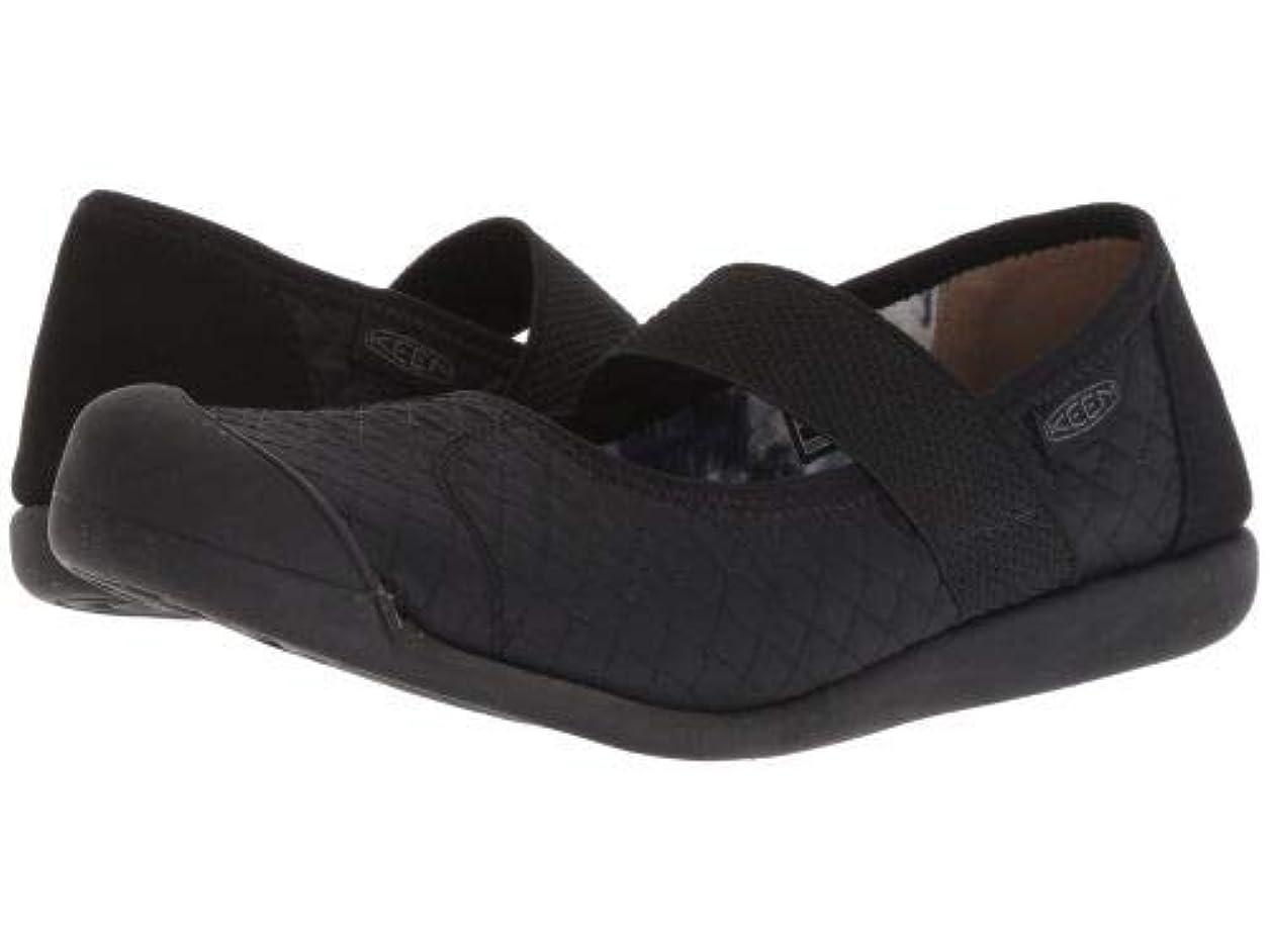 ゆでるうなずく狂ったKeen(キーン) レディース 女性用 シューズ 靴 フラット Sienna MJ Quilted - Black/Steel Grey [並行輸入品]