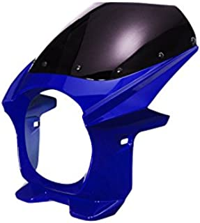 バイクパーツセンター ビキニカウル ブルー 塗装済み+カウル取付ボルトセット 汎用φ180 308714
