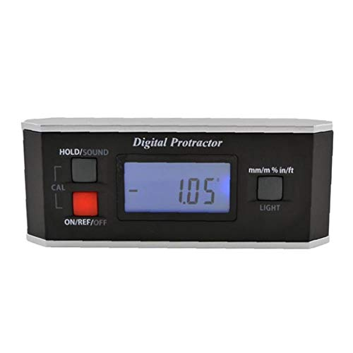 lulongyansf Level Winkelmesser Digitaler Winkelmesser Inklinometer Finder V-Nut-Hintergrundbeleuchtung IP65 Wasserdicht Schwarz für die Industrie
