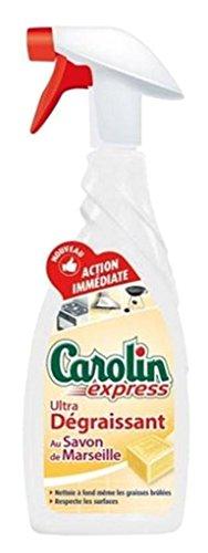 Carolin Spray Ultra Dégraissant Savon De Marseille 650ml (Lot de 3)