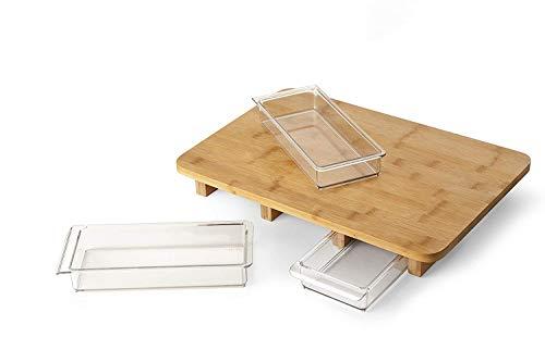 Quirky Mogubo tabla de cortar de cocina con cajones de almacenamiento