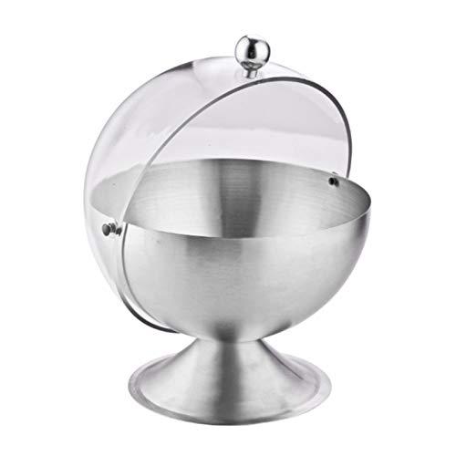 Taza de azúcar de acero inoxidable con forma de bola contapa Tarro de condimento Botella de especias Puede abatir la tapa Azucarero Suministros de cocina