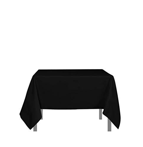 Tischdecke mit Fleckschutz quadratisch 180x180 cm ALIX schwarz