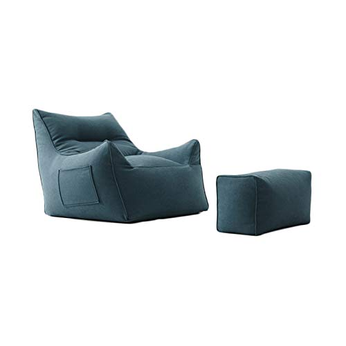 FINDYU Puffs Pera, Bolsas de Frijol, Llenado de particulas EPP Comodo Retirable Lavable Sofa Perezoso para Sala Cuarto de los ninos Bean Bags con Respaldo (Color : Azul, tamano : #2)