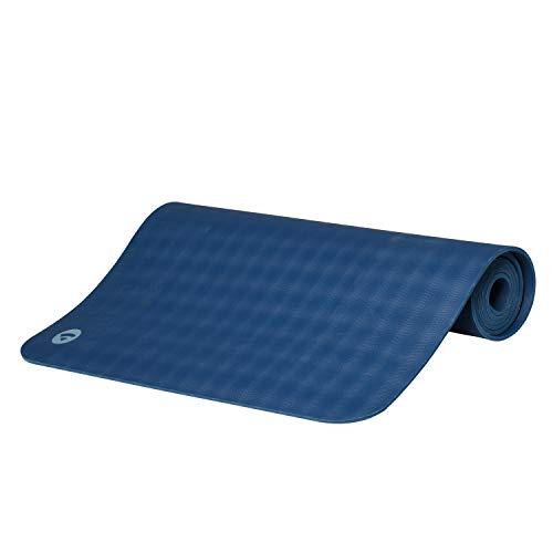 Ultra Grip Kautschuk-Yogamatte ECOPRO DIAMOND, Premium-Matte, extrem rutschfest & extra stark, 100% Naturkautschuk, Ökotex 100, 6mm, auch für Hot Yoga, Gymnastik und Pilates (ozean-blau)
