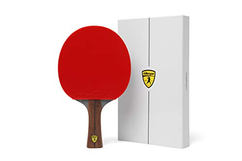 Killerspin Jet 800 Table Tennis Paddle, Professional Ping Pong Paddle, Table Tennis Racket with Carbon Fiber Blade, Nitrx Rubber Grips Ping Pong Balls, Memory Box for Storage – Red & Black