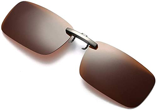 Fuibo Clearance zonnebril for mannen vrouwen Afneembare Van Vision Optics Night Training metalen clip Polarize On Zonnebrillen (Coffee (30% korting 4 of meer)
