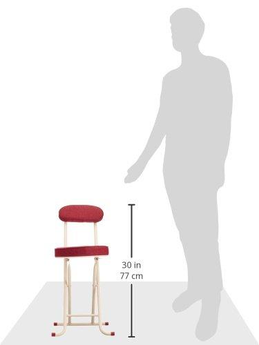 武田コーポレーション【折りたたみ椅子・パイプ椅子・チェア・キッチンチェア】背付き折りたたみチェアーレッドSOT-75RE