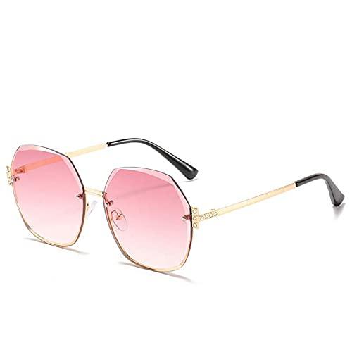 AMFG Gafas de sol retro Gafas de sol de las gafas de sol retro de las damas del océano (Color : A)
