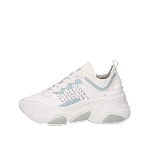 Apepazza Laced Chunky Sneakers Weiß, Weiß - Weiß - Größe: 41 EU Larga