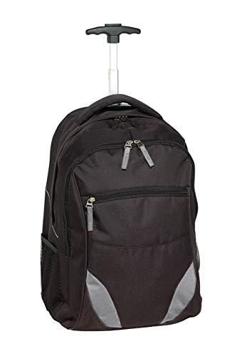 Trolley Rucksack schwarz Laptop Rucksack 34x52x28cm Rucksack mit Rollen