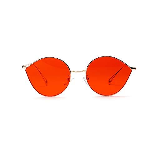 ZHANGQIAO-EU Ronda del Ojo de Gato Gafas de Sol de Moda Bril