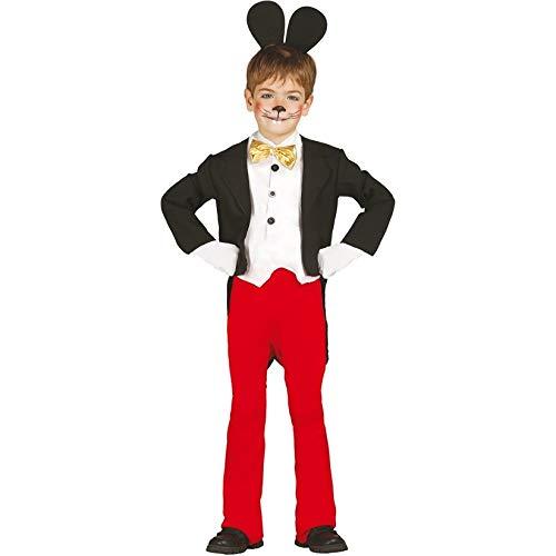 Guirca grafoplas SL.–Traje de Mickey Mouse Talla 5/6años, Color Negro,...