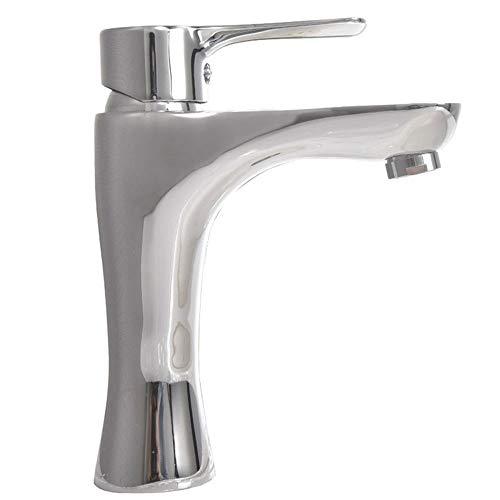 (agua) grifo, grifo de lavabo de estilo europeo Bibcock todo cobre hogar agua caliente y fría grifo monomando con salida de agua suave y grifo a prueba de salpicaduras