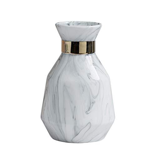 GARNECK Marmor Glasur Vase Hauptdekorationen elektrische vergoldete Vase Dekorationen einfache Vase Ornamente