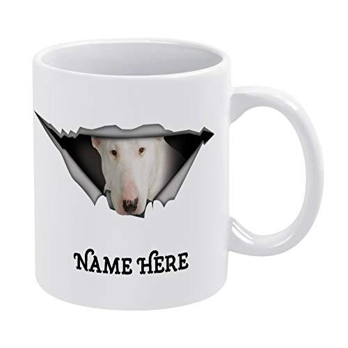 Taza de café con efecto 3D, diseño de Bull Terrier, taza de café de cerámica divertida con diseño de Bull Terrier, regalo para amigos, familiares y compañeros de trabajo, 330 ml