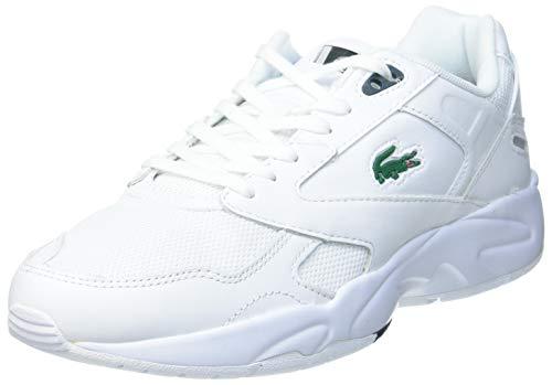Lacoste Herren Storm 96 LO 0120 3 SMA Sneaker, Wht/Dk Grn, 42.5 EU