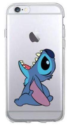 TN CASES STORE Coque iPhone 7 et iPhone 8 Lilo & Stitch Bleu Silicone Souple Transparent