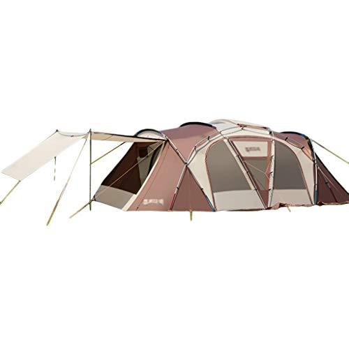 Tent chapiteaux Camping Camp Grande Épaississement Tunnel Extérieur Imperméable À La Pluie 4-6-8-10 Personnes Famille Géante