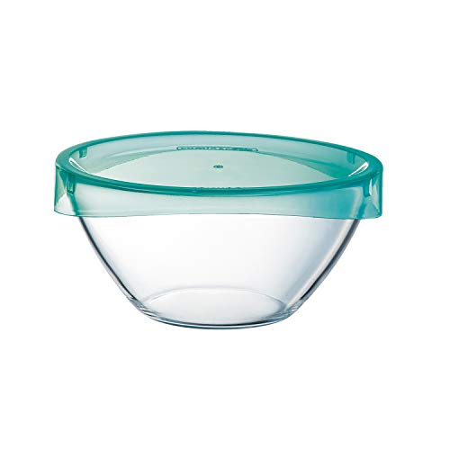 Luminarc ARC G4386 Keep ´n´ Bowl Dose mit Deckel, 2700 ml, Glas, transparent, 1 Stück