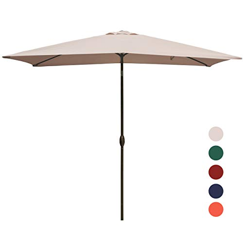 kingyes rectangular patio umbrella