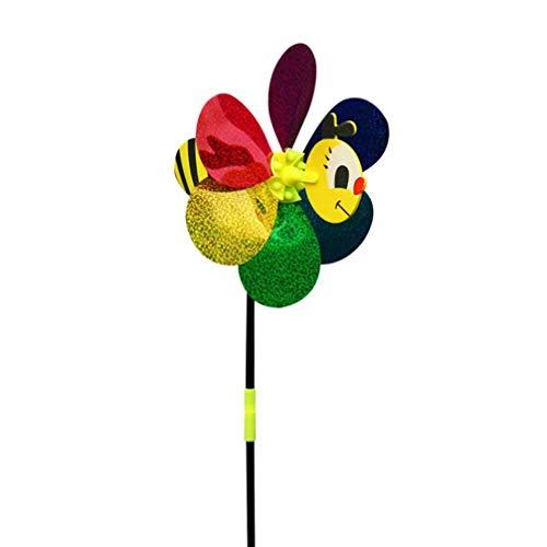 Toyvian - Set di Girandole Fai da Te con Girasole, 8 Pezzi, Girandole con Bastone, per Bambini, Decorazione da Giardino, Prato, Feste (Motivo Casuale)