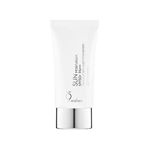 Non Greasy Sunscreen [9wishes] Sun Moisturizer SPF50+ PA+++ 1.7Fl. Oz 50ml