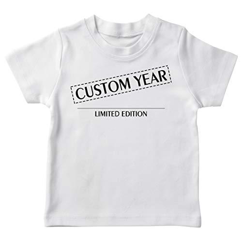 lepni.me Camiseta para Niños Año de Nacimiento Personalizado Edición Limitada de Cualquier Edad Vintage Retro Regalo de Fiesta de Cumpleaños (7-8 Years Blanco Multicolor)