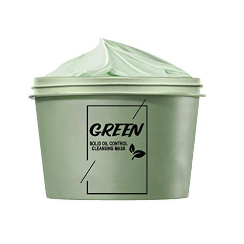 Grüner Tee Gesichtsmaske, Mitesser Maske, Blackhead Remover Mask, Tiefenreinigung Maske Anti Akne Ölkontrolle Beruhigende Anti Aging Face Mask