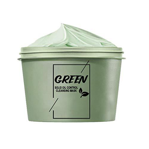 Holmeey Máscara de Arcilla Verde, refrigeración Verde de la Cara de Limpieza de Lodos de Limpieza, Control de Aceite acné la máscara de Cabeza Negra para Mujeres Hombres