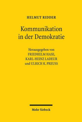 Kommunikation in der Demokratie: Kleine Schriften und Vorträge