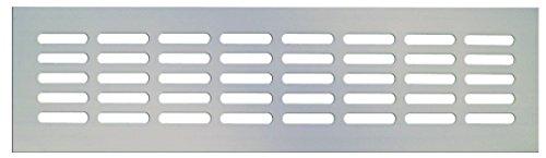 Grille da/ération en aluminium Argent/é 80 x 400 mm
