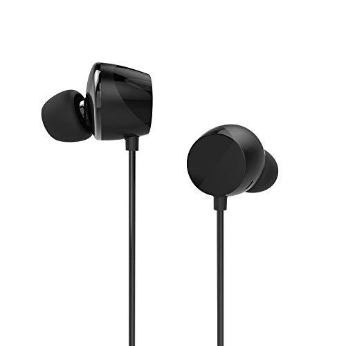 TUNAI Creative Drum Hi-Res Kopfhörer - In-Ohr Kopfhörer mit extra großen 13 mm Treibern für verbesserten Raumklang und Basswiedergabe (Nachtschwarz)