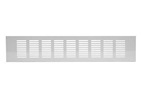 80x500mm Aluminium Lüftungsgitter Weiß Stegblech Lüftung Alu-Gitter Gitter Möbelgitter Möbellüftung
