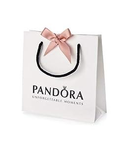 Pandora Genuine Gift Bag with Pink Ribbon 16cm x 16cm x 6cm Approx